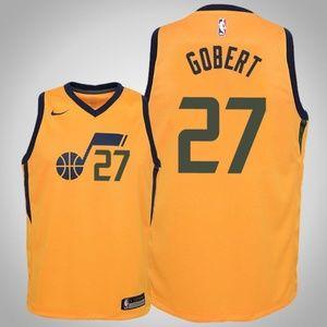 Youth Utah Jazz Rudy Gobert Jersey yellow